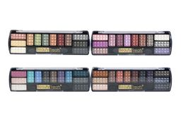 Set Of 4 Beauty Treats Chrome Eye Shadow Palettes-brand New-fast Free Shipping!