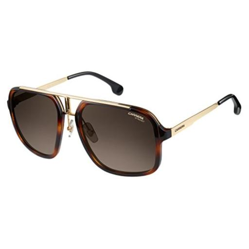 d3c159f276 Carrera Men s Ca1004s Aviator Sunglasses HAVANA GOLD BROWN GRADIENT 57 mm