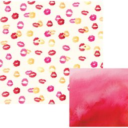 American Craft We R Memory Keepers Urban Chic Collection 12 X 12 Double Sided Paper Kiss Kiss