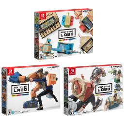 Nintendo Labo Robot Kit, Variety Kit and Vehicle Kit Bundle - Japan Import