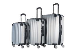 Brio Luggage Hardside Spinner Luggage Set #1331 - Silver