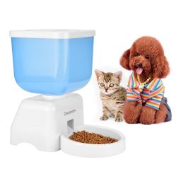 Automatic Pet Feeder, LCD Display Programmable Pet Feeder with Timer & Voice Recorder, 5 Liter Large Capacity Electronic Pet Feeder for Medium/Small Dogs & Cats