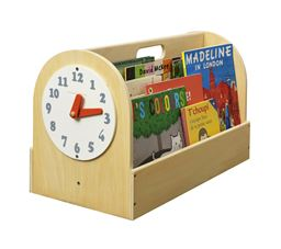 Tidy Books Box with Play Clock - Natural