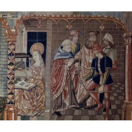 Posterazzi SAL900100601 Joseph Chosen as Marys Spouse Tapestry Textiles Flemish Poster Print - 18 x 24 in.