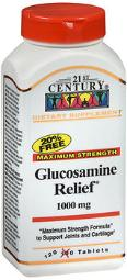 21st Century Glucosamine Relief 1000 Mg - 120 Coated Tablets, Pack Of 4