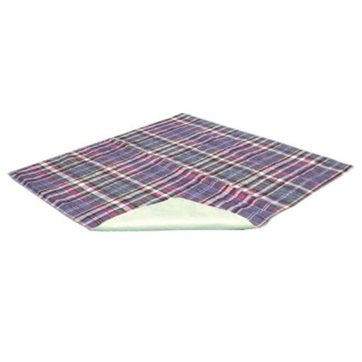 Essential Medical C2012 Quik Sorb Reusable Underpad, 34 in. x 36 in. Plaid Underpad
