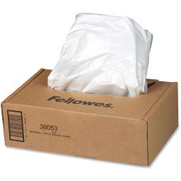 Fellowes, inc. 36053 wastebags - (sb95c/c-14/dm15c) 100/rl