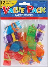 Party Favors 12/pkg-sports Whistles