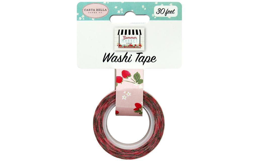Cbsum115026 carta bella summer market washi tape summerberries