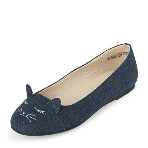 The Children's Place Girls' Ballet Flat, Denim, Youth 6 M US Little Kid Have your little one in style with shoes from The Childrens Place. Enjoy cute shoes at a value price.
