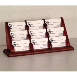 Wooden Mallet BCC3-9MH 9 Pocket Countertop Business Card Holder in Mahogany