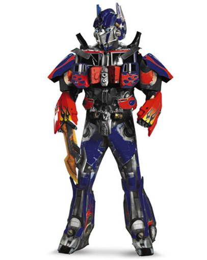 Mens Theatrical Quality Transformers Movie 3 Optimus Prime Costume