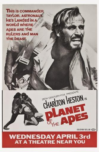 Planet Of The Apes Top: Charlton Heston 1968 Tm And Copyright 20Th Century Fox Film Corp. All Rights Reserved./Courtesy Everett Collection Movie.