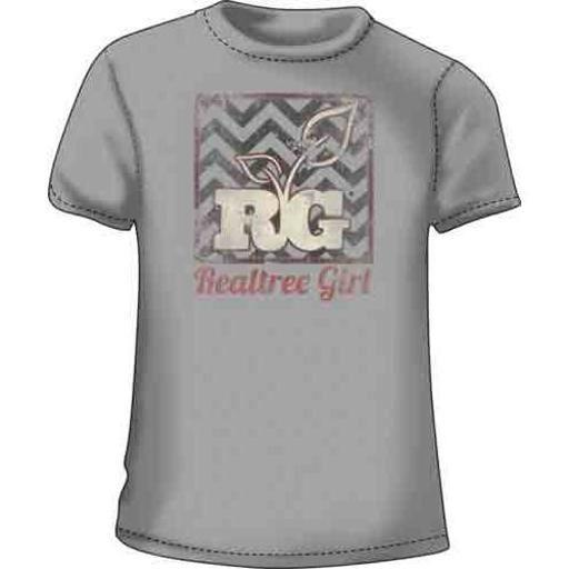 REALTREE RTG4012092L RT WOMEN'S T-SHIRT REALTREE GIRL LARGE SILVER
