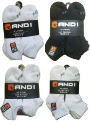 AND1 Men's Performance Socks 10 Pack - Shoe Size 6-12.5
