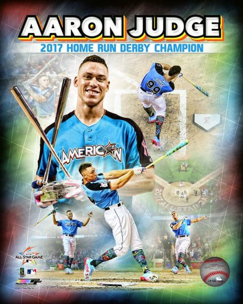 Aaron Judge 2017 Home Run Derby Champion Composite  88th MLB All-Star Game Photo Print