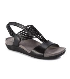 Bare Traps Womens Jayce Leather Open Toe Casual Slingback Sandals