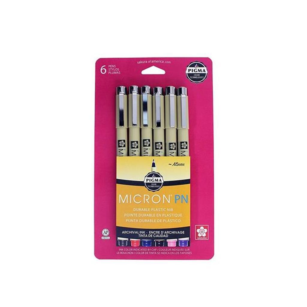 Pigma 50221 Pigma Micron Pen Set of 6