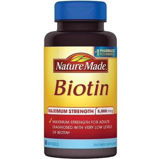 Nature Made Maximum Strength Biotin 5000 mcg Softgel FFSFXIL0FWYAP14M