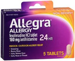 Allegra 24-hour Allergy Relief - 5 Tablets, Pack Of 3