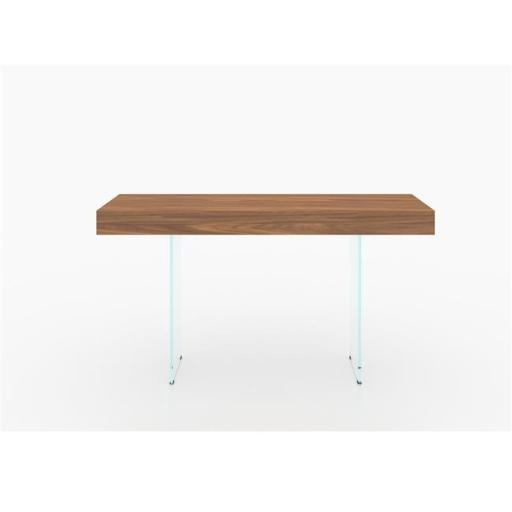 Casabianca Furniture CB-111-WAL-CONSOLE Il Vetro Console Table, Walnut Veneer - 29.5 x 55 x 16 in.