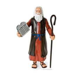 Moses Action Figure Genesis Bible Character Ten Commandments Stone Tablets Toy