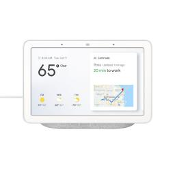 "Google Home Hub 7"" Touchscreen Smart Display Personal Assistant - Chalk"