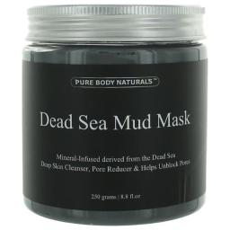 Pure Body Naturals awdsmm88mm 8.8 oz Dead Sea Mud Mask Skin Cleanser for Unisex