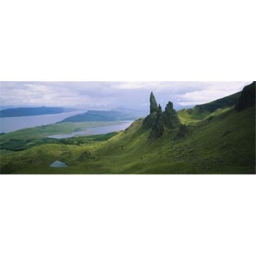 Panoramic Images PPI96380L High angle view of rock formations on a mountain Old Man Of Storr Isle Of Skye Scotland Poster Print by Panoramic Images