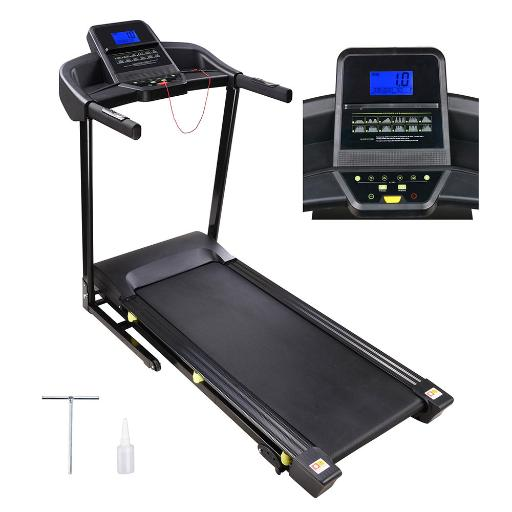 3.0HP Folding Electric Treadmill Motorized Running Walking Machine Trainer LCD