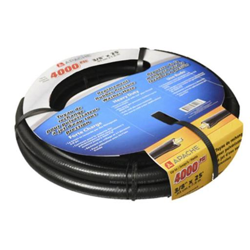 Apache 99050041 0.38 in. x 25 ft. Replacement Rubber Pressure Washer Hose