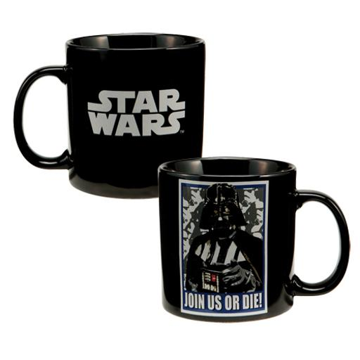 Star Wars Darth Vader Coffee Mug Join Us Or Die! Gift Funny Dark Side Quote Cup