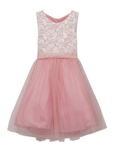 Kids Dream Kids Dream Big Girls Dusty Rose Lace Plus Size Junior ...
