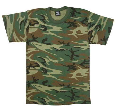 Boys Woodland Camo T-Shirt