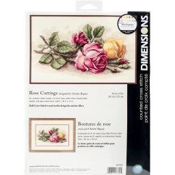 "Rose Cuttings Counted Cross Stitch Kit-14""X9"" 14 Count 13720"