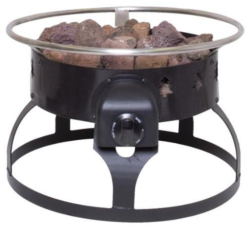 Camp Chef Redwood Portable Propane Fire Pit With 4 Roasting Sticks Black