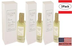 3 Pack Clean Smoked Vetiver by Clean Eau De Parfum Spray 3.4 oz for Women