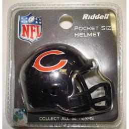 Creative Sports Rpr-bears Chicago Bears Riddell Revolution Pocket Pro Football Helmet