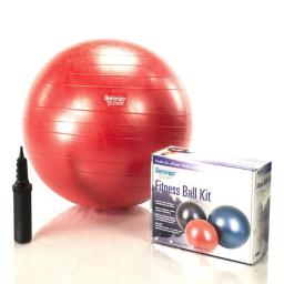 AeroMat 38111 Fitness Ball Kit with Measurement Tape & Pump, Red