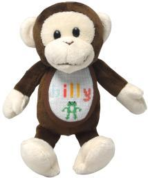 "Ready-To-Stitch Stuffed Animals 18 Count 8""X3""-Madison Monkey GN-324"