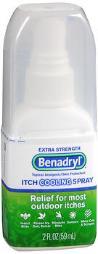 Benadryl Itch Cooling Spray Extra Strength - 2 Oz, Pack Of 4