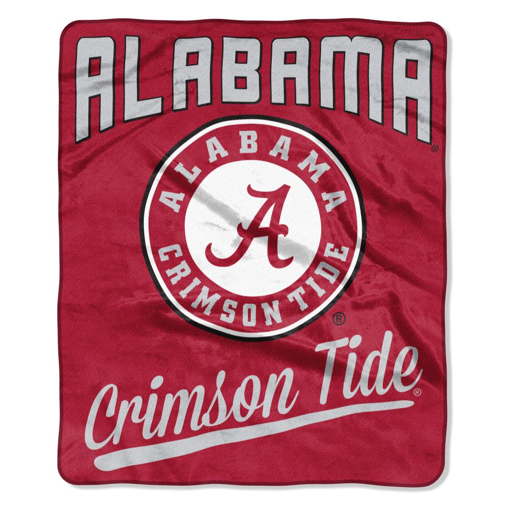 Alabama Crimson Tide Blanket 50x60 Raschel Alumni Design