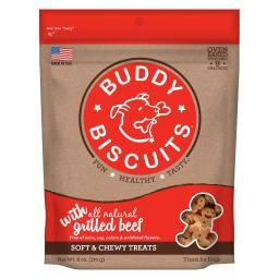 Buddy Biscuits 17100 Buddy Biscuits Original Soft And Chewy Dog Treats Grilled Beef 6 Ounces