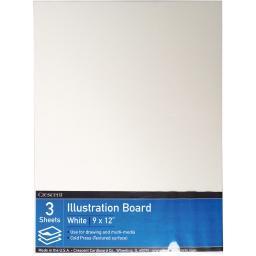 """Crescent Illustration Board Value Pack 3/pkg-9""""x12"""""""