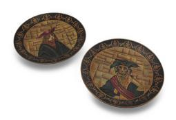Set of 2 Royal Design Dog Collector Plates - Napoleon and Henry III