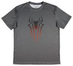 Marvel Men's The Amazing Spider-Man Steel Spider Athletic T-Shirt