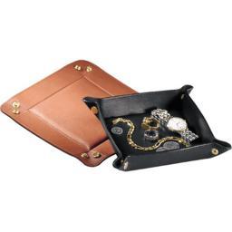 Royce Leather 923-BLACK-5 Travel Valet Tray - Black