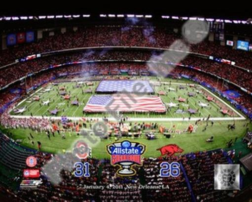 Ohio State Buckeyes Allstate Sugar Bowl Champions with Overlay Sports Photo OLD6GFF0VPUMRVER