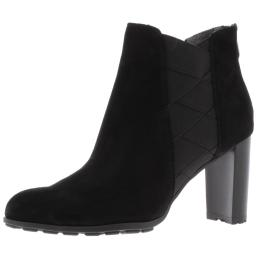 Adrienne Vittadini Womens Trinie Faux Suede Block Heel Ankle Boots