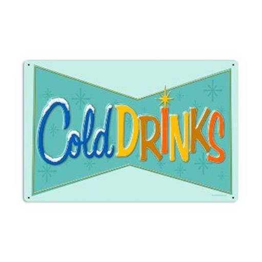Cold Drinks Food And Drink Vintage Metal Sign